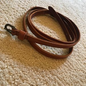 Madewell leather skinny belt - xs/s